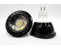 LED Spot Light MR16 GU5.3 White/Black Base COB LED
